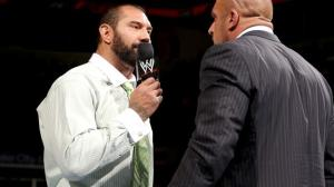 Batista's unfortunately lackluster return to WWE comes to an end, along with Evolution (credit: wwe.com)