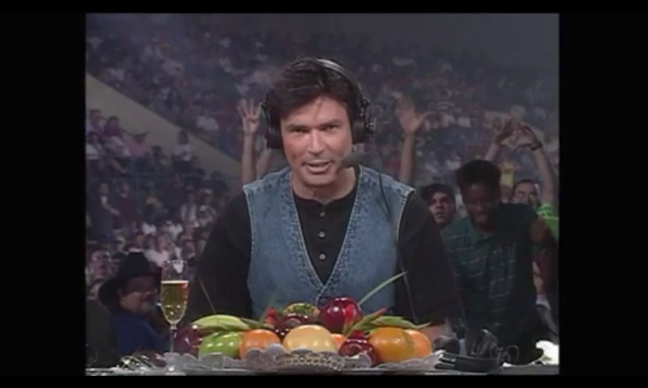Bischoff couldn't keep his sideline selling fruit to the crowd hidden forever.